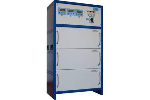 Стабилизатор напряжения 3ф (100 кВт) к-во ступеней: 16 точность стабилизации: 220±3 масса: 150кг
