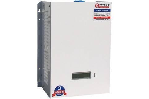 Стабилизатор Systems Ultra Мощность: 7500 ВА