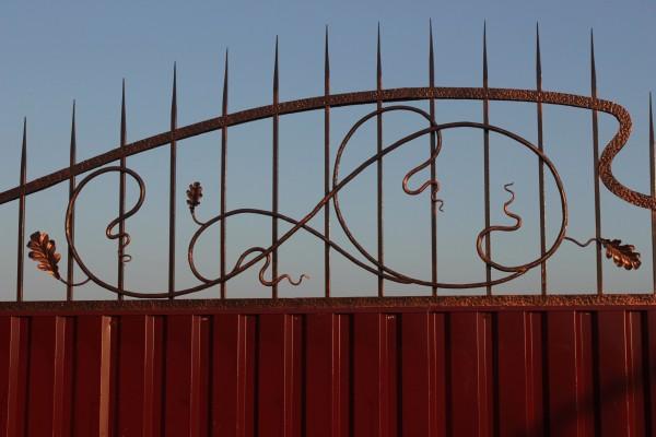 Стальные кованые заборы в Днепропетровске