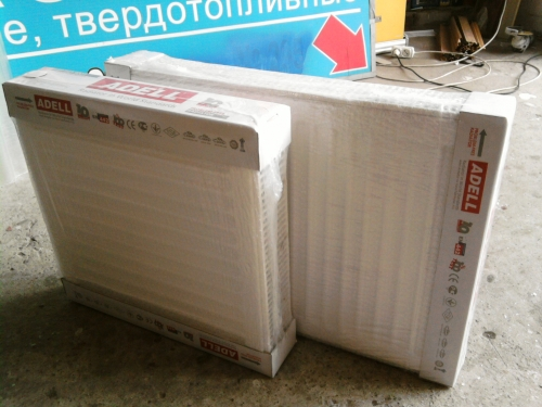 Стальные радиаторы фирма AdeLL толщина метала 1,25мм Размер 22Класс 500*1000