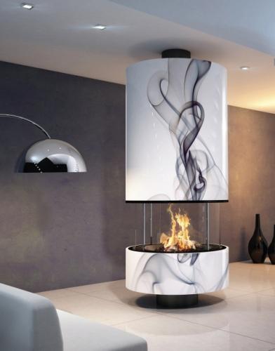 Стальной камин IRENA volutes с открытым огнем (Bordelet)