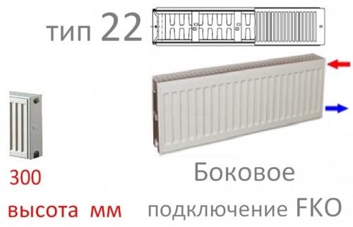 Стальной панельный радиатор Kermi FKO 22 300/500 (638)