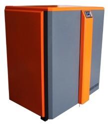 Стальной универсальный котел с автоматической подачей топлива (пиллеты, уголь, брикеты) Geyzer-25 мощность 25 кВт