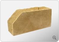 Стандартный полнотелый кирпич «Скала» угловой тычковой