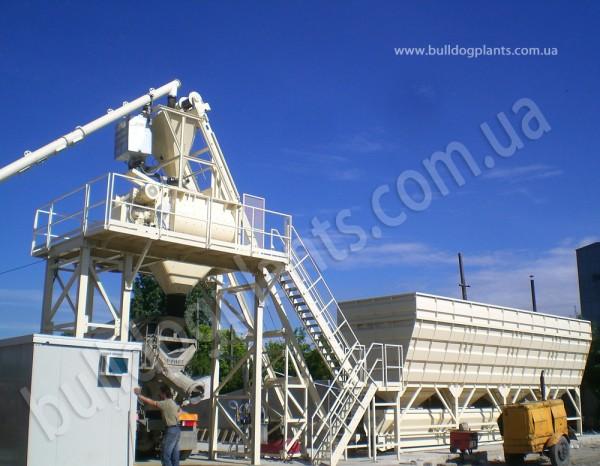 Стационарный бетонный завод, 10-120 м3/час