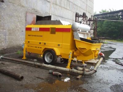 Стационарный бетононасос, производит. 60 м3, минимальный заказ - 3 месяца по Киеву