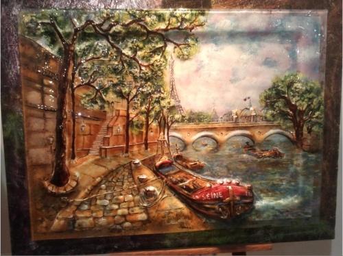 """Стеклянная картина """"Париж"""" размер 90см*70см"""