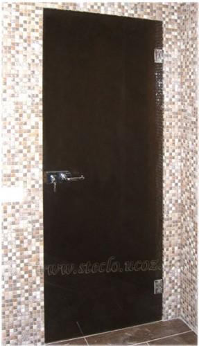 Стеклянные двери (цвет стекла - бронза, матированные)