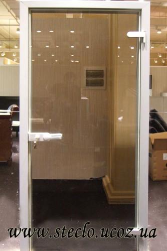 Стеклянные двери (цвет стекла - бронза, прозрачные)