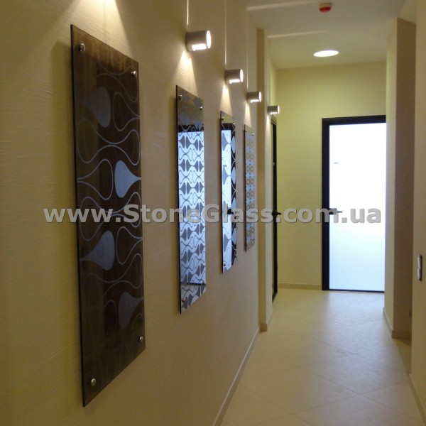 Стеклянные панели (декорирование стен стеклом)