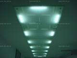 Стеклянные потолки, светильники.