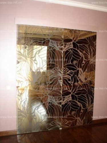 Стеклянные раздвижные двери, Двери стеклянные Киев