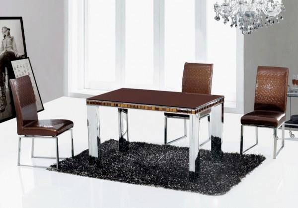 Стеклянные столы JL001 для кухни коричневый, черный киев, стеклянные столы для кухни JL001 коричневый, черный