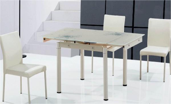 Стеклянные столы TB008-6-2 купить Украина, купить стеклянные обеденные столы TB008-6-2 кремовый фото