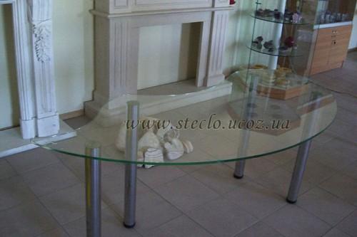 Стеклянный стол фигурный