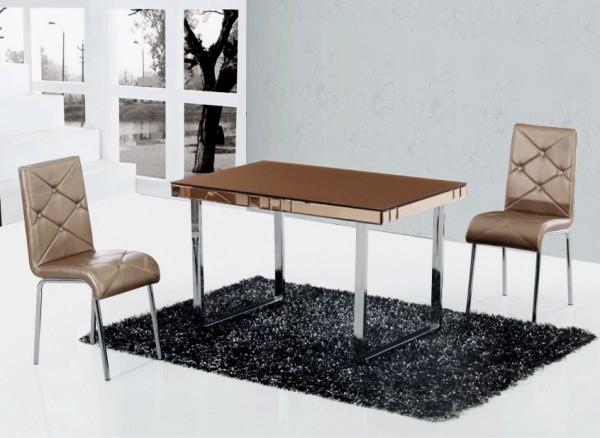Стеклянный столик JL011 золотисто-коричневый Украина, стол на кухню стеклянный Одесса фото