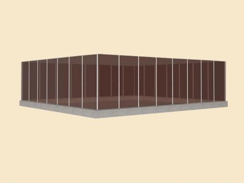 Стеклянный забор из безопасного стекла: каленого стекла, триплекса, стекла тонированного в массе.