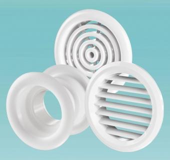 Стельові дефузори тарільчаті клапанни, монтажні елементи, гратки металеві, гратки для стелі