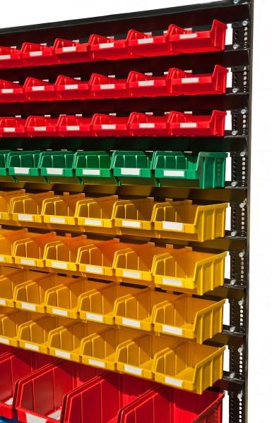 Стеллаж стальной для складских ящиков односторонний. Арт.1500-1 (1000х360х1500), черный