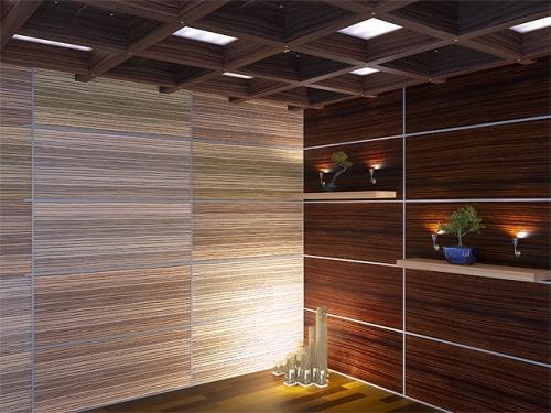 Стеновые шпонированные панели для офиса, офисные перегородки.