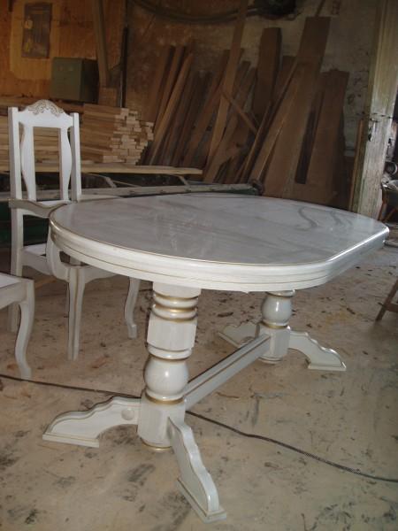 Стіл кухонний з масиву Дуба. (160*90*40см) Розміри від 120*80*40см до 160*90*40см