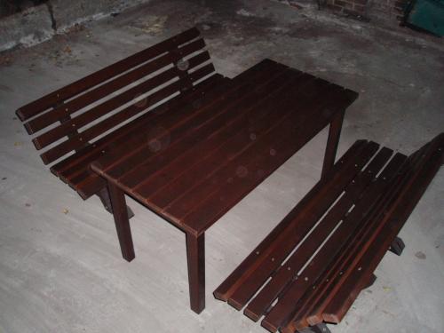 стіл садовий 2-ві лавочки 1500*700(сосна)покра ска Sigma