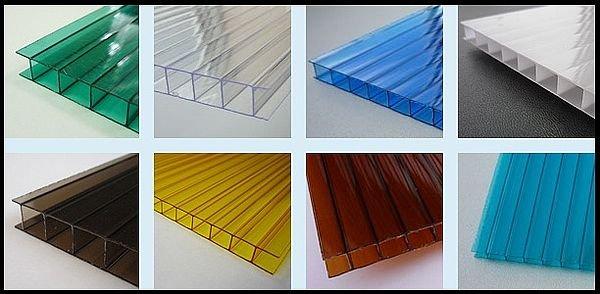Фото  1 Сотовый поликарбонат бронза (цветной) Солидпласт Сотон Эконом 8мм 1435491