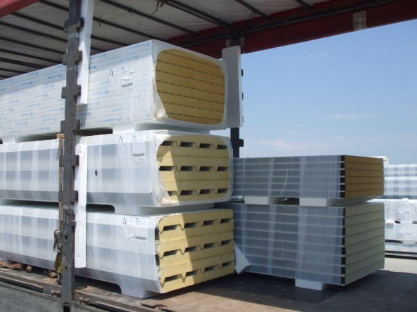 Стінова сендвіч панелі компанії Isopan, isocop 5 товщина 100, isotego 3