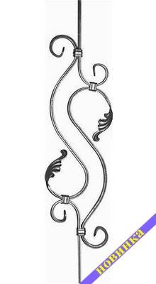 Стойка перил - 168029 - кованые элементы, ковка