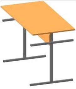 Стол для столовой четырехместный/шести местный
