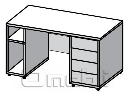 Стол двухтумбовый UK-110   венге A10432
