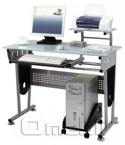 Стол компьютерный CT-3332 стекло прозрачное A10053