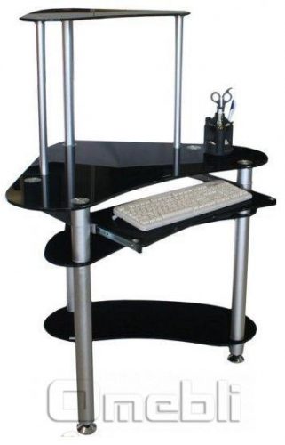 Стол компьютерный Е-20 стекло черное A10047