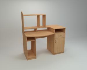 "Стол компьютерный ""Комфорт - 2"" размеры:ширина - 1286 мм, высота - 756 630 мм, глубина - 700 мм"