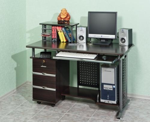Стол компьютерный VS-26 Материал: МДФ Габариты: мм, ГхШхВ620х1200х750(98 0)