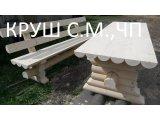 Фото 1 лавки деревяні з оциліндрованих бруса 338422