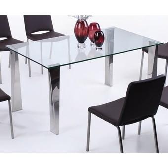 Стол Лен, стеклянный обеденный стол Лен купить Украине