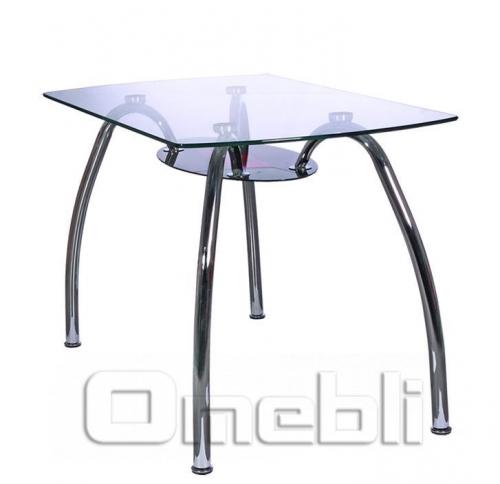 Стол обеденный KSD-021-T стекло красно-черное A10091