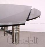 Стол обеденный раскладной B-168-9 черный хром A10103