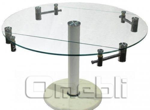 Стол обеденный раскладной B-168-9 прозрачный A10101