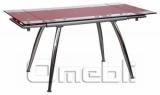 Стол обеденный раскладной B-179 красный A10083