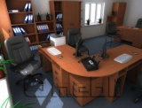 Стол письменный ST8 2 вишня A10068