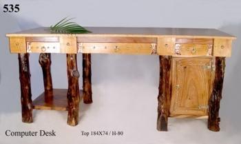 Стол письменный STS 535. Материал:дерево хлебное, кофейное. Цвет:коричневый. Габариты:184х73х80