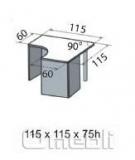 Стол письменный угловой Ом120 1238511