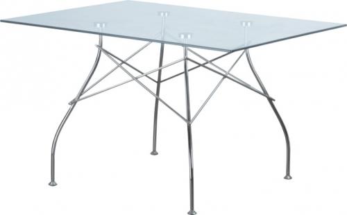 Стол Спайдер стеклянный прямоугольный дизайнерский