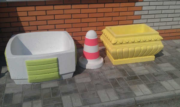 Столбик бетонный парковочный