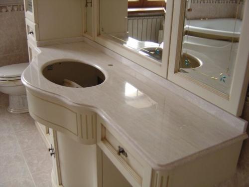 Столешница для ванной комнаты из мрамора
