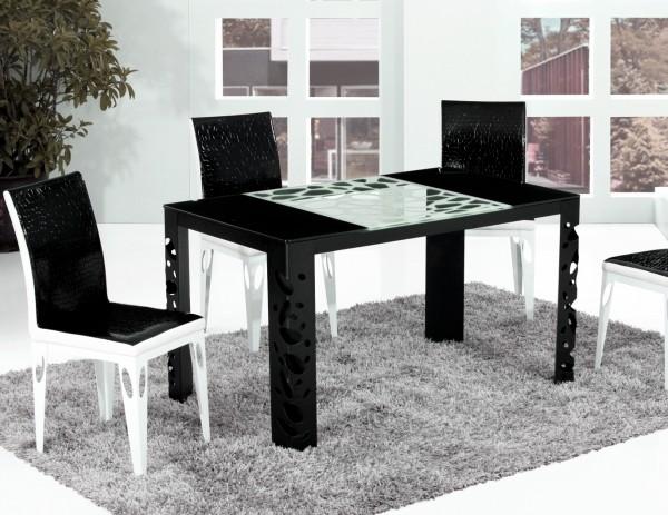 Столы стеклянные B830 черный харьков, фото стеклянных столов B830 Киев, купить стеклянные столы B830 киев