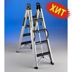 Стремянки телескопические Svelt SUPERFOLD 2x3 ступени двусторонняя лестница (арт. 115054)