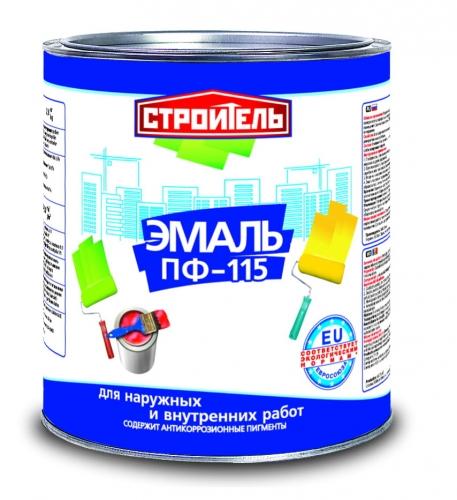 Stroitel (ТМСТРОИТЕЛЬ)эмаль ПФ-115 в ассортименте, все цвета, банки 2,8кг, бочки 50кг, доставка, кг